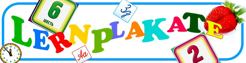 Lernplakate für Kinder