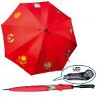 "Regenschirm ""UdSSR´s Wappen"" mit LED- Licht, rot, FA-0014"