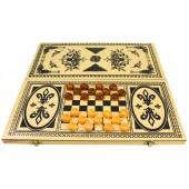 Backgammon, Dame ca. 40 x 40 cm, TS-33405