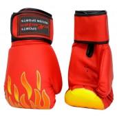 Boxhandschuhe aus Kunstleder rot FIT-14906_1