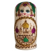 "Matrjoschka ""Kirchenkuppeln"", rosa, 7 Puppen, MA-13805"