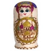 "Matrjoschka ""Kirchenkuppeln"", violett, 7 Puppen, MA-13785"