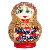 "Matrjoschka ""Blumen"", 11 cm, rot, 6 Puppen, MA-13935"