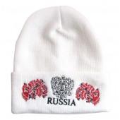 "Wintermütze weiß ""Russia"" gerb, hochloma  TM-1073"