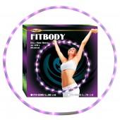 "Hula Hoop ""FITBODY"", mit 22 LED (purpur), D-70 cm, FH-12205"