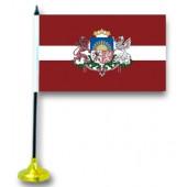 """Tischflagge """"Lettland"""", mit Ständer FA-0026"""