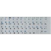 Наклейки на клавиатуру. Цвет: серебряный (Русский + Немецкий)