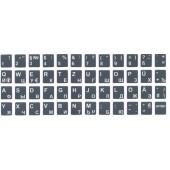 Наклейки на клавиатуру. Светящиеся цвет: зеленый/белый (Русский + Латинский)