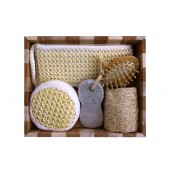 Набор банных принадлежностей 5 предметов в деревянной форме